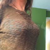 Burnout and crochet sweater