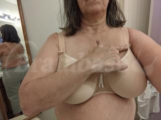 38G - Elomi » Amelia Spacer Moulded Bra (8740) Wearing bra - Other view