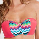 36FF - Midnight Grace » Cindy Chevron Underwired Bandeau Bikini Top (002260)