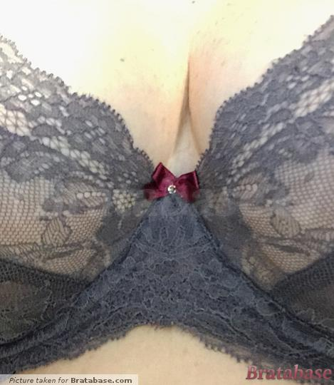 Cup is just a little small. My larger right breast is pulling the gore out of center, | 34FF - Panache » Ava Plunge (9396)