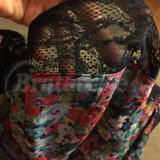 Black soft stretchy lace