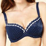 Navy Spotted Padded Bra (1500105591)
