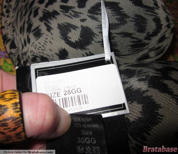 The weird discrepancy with the labels. | 28GG - Full-filled » Beau Plunge Bra (BEAU1)