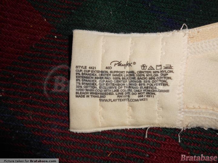  40D - Playtex » Cotton Blend Jacquard Underwire Bra (7536)