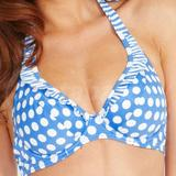 Pin Up Non Padded Underwired Halter Bikini Top (137142)