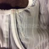 Left inside dart (plus blood stains! pricked finger on white)