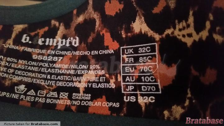 Love the leopard lining | 32C - B.tempt'd By Wacoal » B.wow'd Push Up Bra (958287)