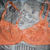 38C - Lady Rose Lingerie » Orange Lace Balconette