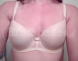 30DD - Fantasie » Zoe Moulded Plunge Balcony Bra (9261) Wearing bra - Front shot
