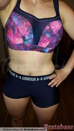 Paired with navy Under Armour brand short (with black waistband)  | 30F - Panache Sport » Sports Bra (5021)