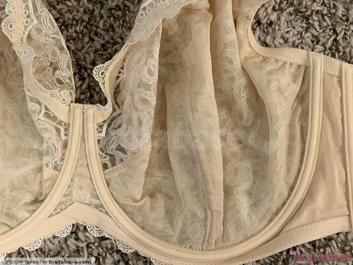 It's hard to see, but there is only 1 vertical seam, making this a 3-part bra. | 75KK - Kris Line » Betty Soft (1404)