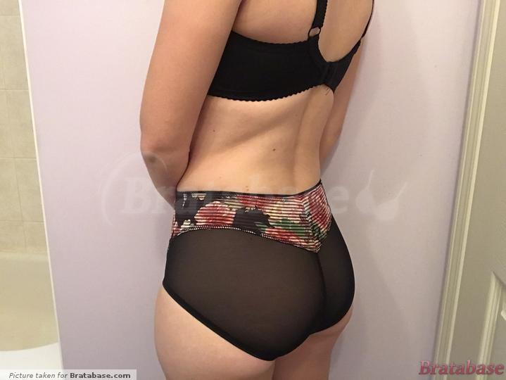 """""""High-waisted"""" brief is more like a mid-rise in my opinion. It has pretty good cheek coverage; more than the Scottie, but less than the Elise brief. 