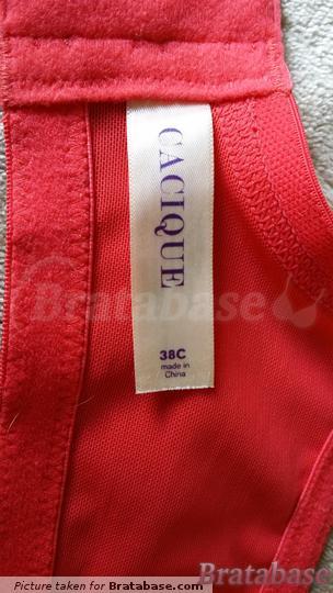   38C - Cacique » Bold Lace Plunge Bra (176562)