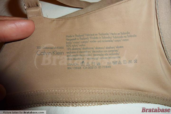 Printed, no itchy tags | 30D - Calvin Klein » Seductive Comfort Customized Lift (F3455)