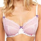 36FF - Figleaves » Jasmine Satin & Lace Underwired Bra (008721)