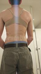 34B - Wacoal » Body By Wacoal T-back (65124) Wearing bra - Back view