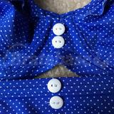 """Bra and bottoms with matching white """"Freya"""" buttons"""