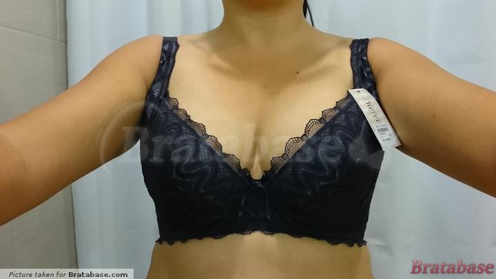 Awesomely low center gore  | 34G - Satami » Lace Minimizer Soft Cup Bra (BR-02180)