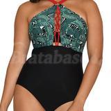 34FF - Curvy Kate » Paradise Palm Plunge Swimsuit (CS006601)