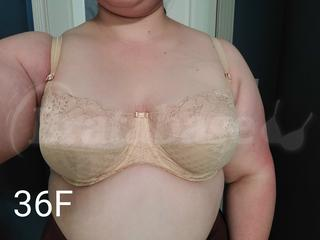 36F - Panache » Envy Balconnet Bra (7285) Wearing bra - Front shot