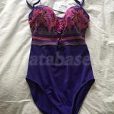 30DD - Panache Swimwear » Savannah Padded Bandeau Swimsuit (SW0