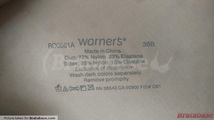 | 38B - Warner's » No Side Effects™ Underwire With Lift (0561)