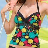 Flower Burst Tankini Top
