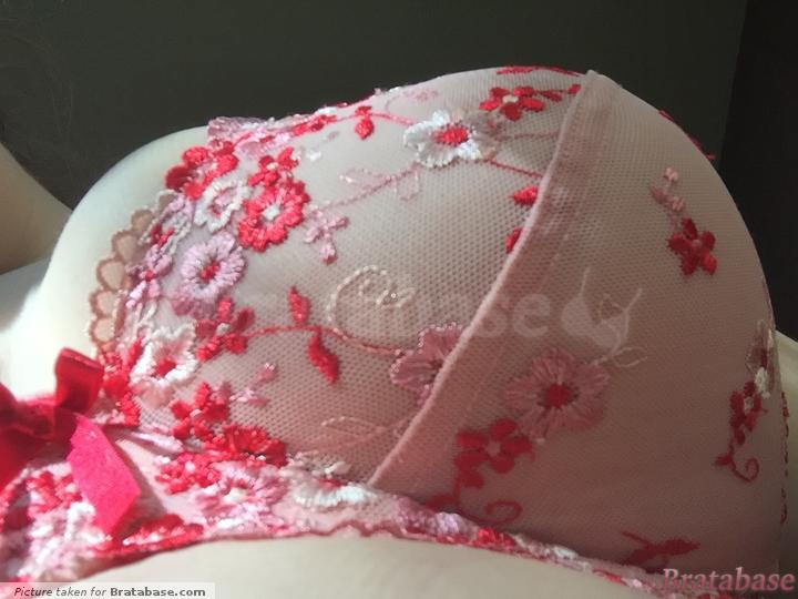 | 38G - Pour Moi » Ditsy Plunge Underwired Bra (8802)