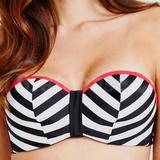 36FF - Midnight Grace » Rita Chevron Underwired Bandeau Bikini Top (001903)