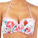 Multi- Coloured Floral Print Underwired Bikini Top (0640206688)