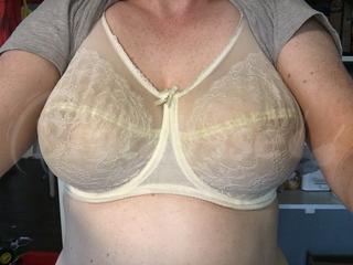 36G - Wacoal » Retro Chic Full Figure Underwire Bra (855186) Wearing bra - Front shot