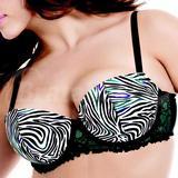 38D - Cacique » Colored Zebra Demi Bra (137407)