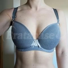 28G - Freya » Deco Delight Moulded Plunge Bra (1561) Wearing bra - Front shot