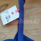 Fuzzy fabric as strap padding