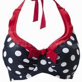 Ahoy Spotty Underwired Halter Bikini Top (3302)