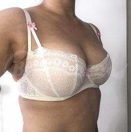 30DD - Betsey Johnson Intimates » Eyelet Lace Demi Bra (723325)