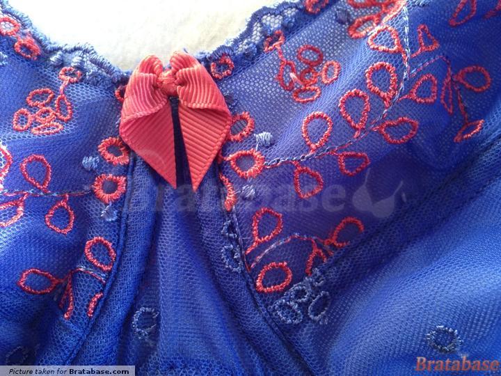 | 32FF - Just Peachy » Lana Broiderie Non Padded Balconette Bra (