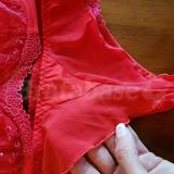Back of panties is flutter style in soft opaque mesh