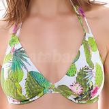 Cactus Bandless Halter Bikini Top (3881)
